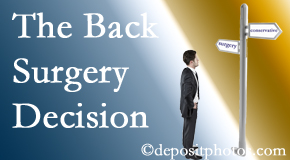Ashburn back surgery for a disc herniation is an option to be carefully studied before a decision is made to proceed.