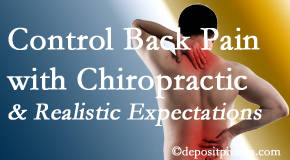 Poulin Chiropractic of Herndon and Ashburn helps patients establish realistic goals and find some control of their back pain and neck pain so it doesn't necessarily control them.