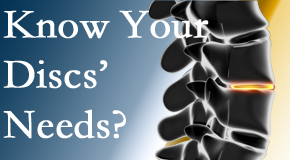 Your Ashburn chiropractor knows all about spinal discs and what they need nutritionally. Do you?