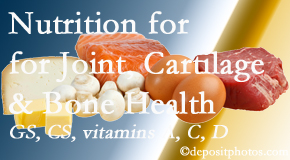 Poulin Chiropractic of Herndon and Ashburn explains the benefits of vitamins A, C, and D as well as glucosamine and chondroitin sulfate for cartilage, joint and bone health.