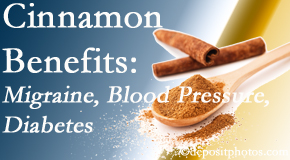 Poulin Chiropractic of Herndon and Ashburn presents research on the benefits of cinnamon for migraine, diabetes and blood pressure.