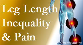 Poulin Chiropractic of Herndon and Ashburn checks for leg length inequality as it is related to back, hip and knee pain issues.