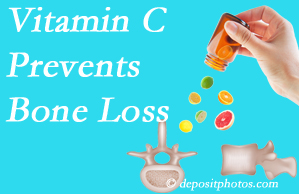 Poulin Chiropractic of Herndon and Ashburn may suggest vitamin C to patients at risk of bone loss as it helps prevent bone loss.