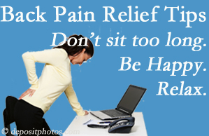 Poulin Chiropractic of Herndon and Ashburn reminds you to not sit too long to keep back pain at bay!
