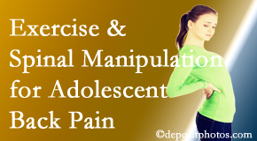 Poulin Chiropractic of Herndon and Ashburn uses Ashburn chiropractic and exercise to relieve back pain in adolescents.