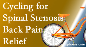 Poulin Chiropractic of Herndon and Ashburn encourages exercise like cycling for back pain relief from lumbar spine stenosis.