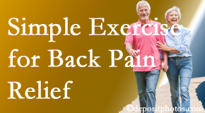 Poulin Chiropractic of Herndon and Ashburn suggests simple exercise as part of the Ashburn chiropractic back pain relief plan.