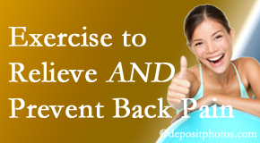 Poulin Chiropractic of Herndon and Ashburn urges Ashburn back pain patients to exercise to prevent back pain as well as get relief from back pain.