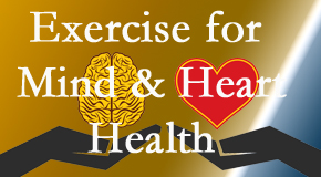 A healthy heart helps maintain a healthy mind, so Poulin Chiropractic of Herndon and Ashburn encourages exercise.