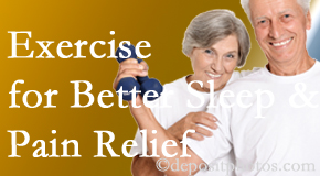Poulin Chiropractic of Herndon and Ashburn incorporates the suggestion to exercise into its treatment plans for chronic back pain sufferers as it improves sleep and pain relief.