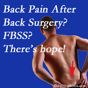 Ashburn chiropractic care has a treatment plan for relieving post-back surgery continued pain (FBSS or failed back surgery syndrome).