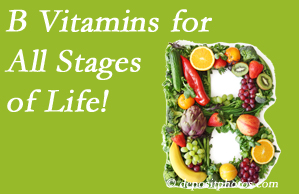 Poulin Chiropractic of Herndon and Ashburn urges a check of your B vitamin status for overall health throughout life.