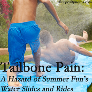 Poulin Chiropractic of Herndon and Ashburn offers chiropractic manipulation to ease tailbone pain after a Ashburn water ride or water slide injury to the coccyx.