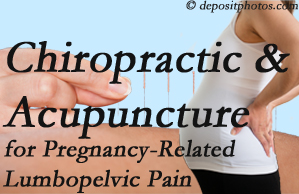 Ashburn chiropractic and acupuncture may help pregnancy-related back pain and lumbopelvic pain.