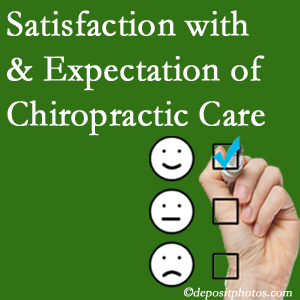 Ashburn chiropractic care delivers patient satisfaction and meets patient expectations of pain relief.