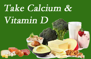 Poulin Chiropractic of Herndon and Ashburn urges osteoporotic and osteoarthritic patients to take calcium and vitamin D to prevent fractures and save money.