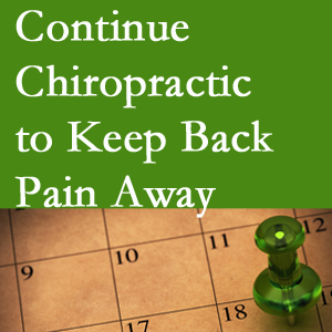Continued Ashburn chiropractic care helps keep back pain away.
