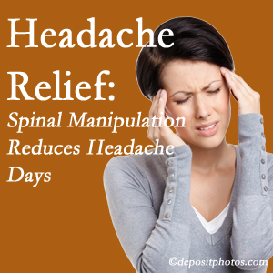 Ashburn chiropractic care at Poulin Chiropractic of Herndon and Ashburn may reduce headache days each month.