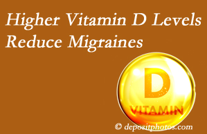 Poulin Chiropractic of Herndon and Ashburn shares a new study that higher Vitamin D levels may reduce migraine headache incidence.