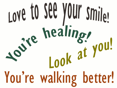 Use positive words to support your Ashburn loved one as he/she gets chiropractic care for relief.