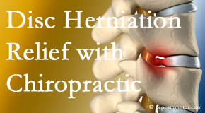 Poulin Chiropractic of Herndon and Ashburn gently treats the disc herniation causing back pain.
