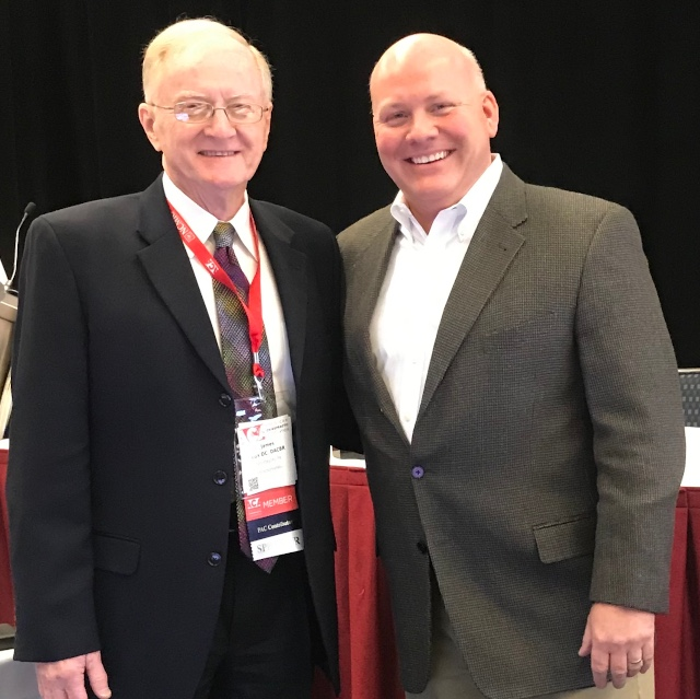 Doctor Cox and Doctor Poulin together at the American Chiropractic Association conference